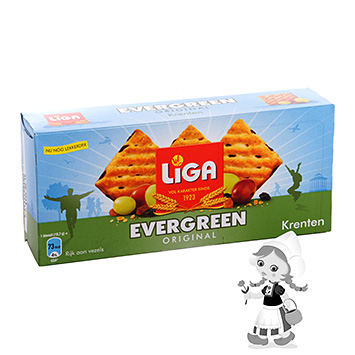 Liga Evergreen Biscotti rustici all'uva passa 225g
